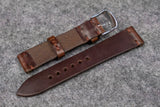 Horween Chromexcel Brown Unlined Side Stitch Leather Watch Strap
