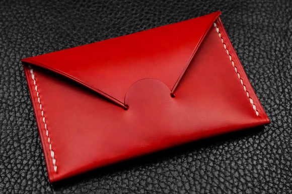 NEW: Italian Leather Card Wallet (Red)