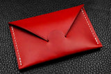 Italian Leather Card Wallet (Red)