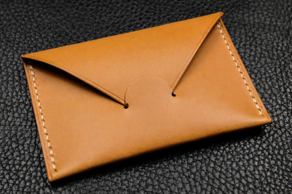 NEW: Italian Leather Card Wallet (Sand)