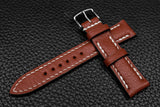 Alran Chevre Cedar Half Padded Leather Watch Strap