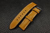 Alran Chevre Mustard Half Padded Leather Watch Strap