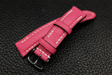 Alran Chevre Fluo Pink Half Padded Leather Watch Strap