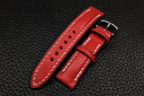 NEW: Alran Chevre Red Half Padded Leather Watch Strap
