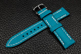 Alran Chevre Sky Blue Half Padded Leather Watch Strap