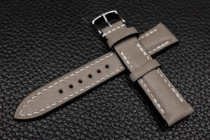 Alran Chevre Taupe Half Padded Leather Watch Strap