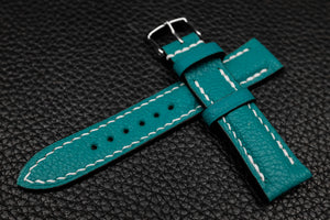 Alran Chevre Turquoise Half Padded Leather Watch Strap