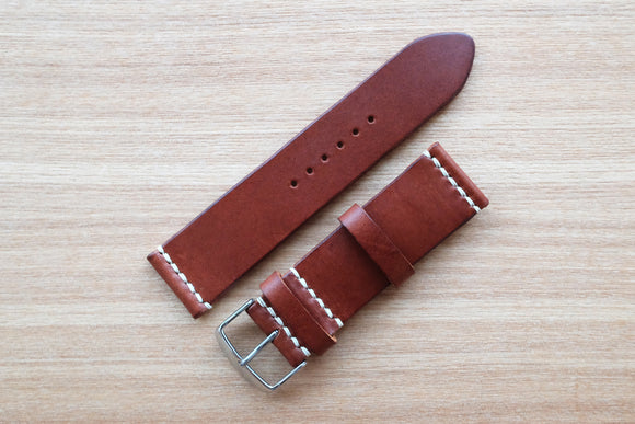 OO: Italian Chocolate Unlined Leather Watch Strap (24/24)