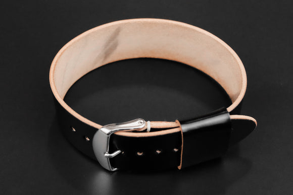 Shell Cordovan Black Wide Pass Through Strap