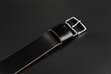 Japanese Shell Cordovan Black Wide Pass Through Strap