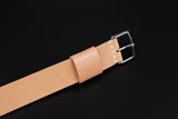 Japanese Shell Cordovan Natural Wide Pass Through Strap
