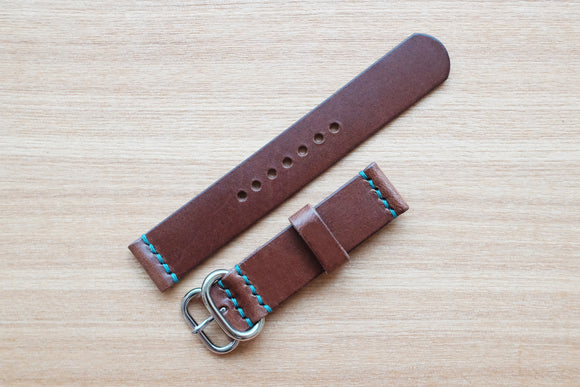 OO: Italian Espresso Unlined Leather Watch Strap (18/18)