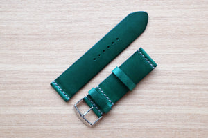 RM: Italian Green Unlined Leather Watch Strap (24/24)