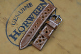 NEW: Horween Shell Cordovan Bourbon Racing Leather Watch Strap