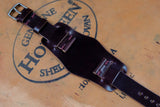 Horween Shell Cordovan Colour 8 Unlined Side Stitch Leather Bund Watch Strap
