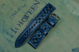Horween Shell Cordovan Navy Racing Leather Watch Strap