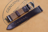 NEW: Horween Shell Cordovan Colour 8 Unlined Top Stitch Leather Watch Strap