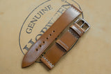 NEW: Horween Shell Cordovan Natural Unlined Top Stitch Leather Watch Strap