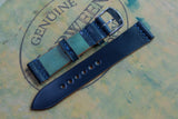 NEW: Horween Shell Cordovan Navy Unlined Top Stitch Leather Watch Strap