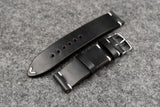 Horween Chromexcel Black Side Stitch Leather Watch Strap