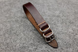 RM: Horween Chromexcel Burgundy 3 Ring Pass Through Leather Strap (18)