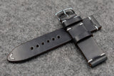 Horween Chromexcel Navy Side Stitch Leather Watch Strap