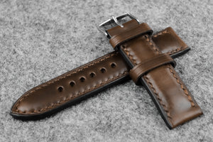 Horween Chromexcel Natural Full Padded Leather Watch Strap