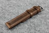 Horween Chromexcel Natural Full Stitch Leather Watch Strap