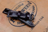 Horween Shell Cordovan Colour 8 Full Stitch Leather Watch Strap