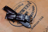 Horween Shell Cordovan Colour 8 Half Padded Leather Watch Strap