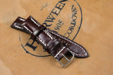 Horween Shell Cordovan Colour 6 Half Padded Leather Watch Strap