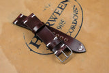 Horween Shell Cordovan Colour 6 Side Stitch Leather Watch Strap