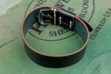 NEW: Horween Shell Cordovan Black Wide Pass Through Strap