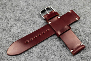 RM: Horween Shell Cordovan Garnet Unlined Watch Strap (20/20)