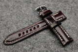 RM: Horween Shell Cordovan No.8 Burgundy Half Padded Watch Strap (20/18)