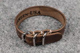 Horween Chromexcel Natural 3 Ring Pass Through Leather Strap