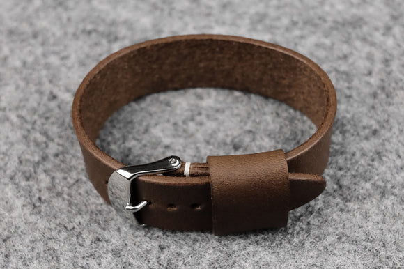Horween Chromexcel Natural Wide Pass Through Leather Strap