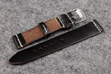 THOS Horween Chromexcel Black Unlined Leather Watch Strap