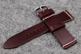 THOS Horween Chromexcel Burgundy Unlined Leather Watch Strap