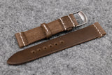 Horween Chromexcel Natural Unlined Top Stitch Leather Watch Strap