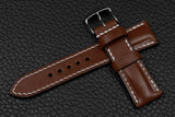 Italian Chocolate Half Padded Leather Watch Strap