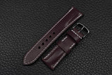 Italian Purple Half Padded Leather Watch Strap