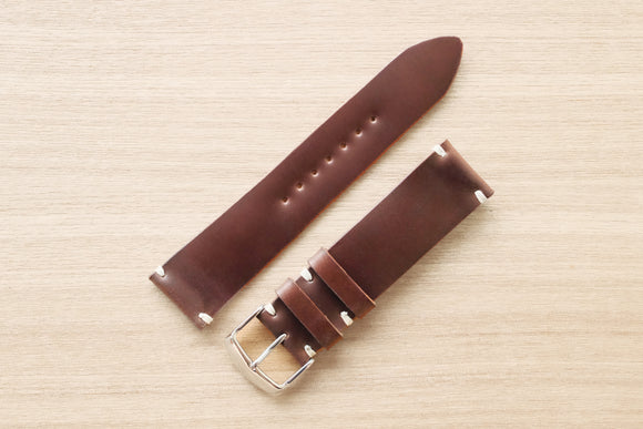RM: Italian Shell Cordovan Brown Unlined Watch Strap (22/20)