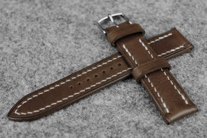 RM: Italian Espresso Full Stitch Leather Watch Strap (22/20)