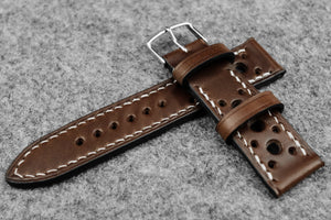RM: Italian Espresso Racing Leather Watch Strap (22/20)