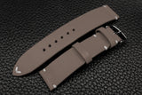 Italian Grey Side Stitch Leather Watch Strap
