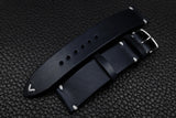 Italian Navy Side Stitch Leather Watch Strap