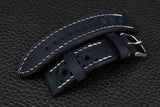 Italian Navy Racing Leather Watch Strap