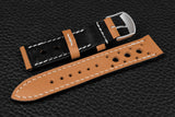Italian Sand Racing Leather Watch Strap