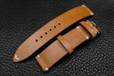 Italian Sand Side Stitch Leather Watch Strap